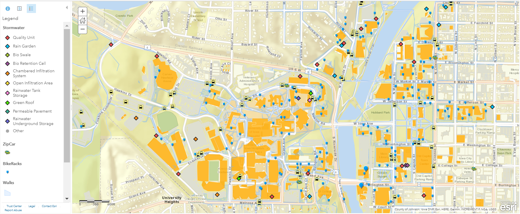 university of iowa map of campus Sustainability Maps Office Of Sustainability And The Environment