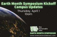 Earth Month Symposium Kickoff:  Campus Updates