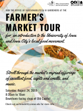 Tour the Iowa City Farmer's Market with the Office of Sustainability (On Iowa!)