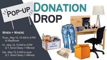 Pop-Up Donation Drop