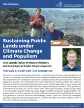 Sustaining Public Lands under Climate Change and Populism
