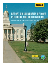 Title page of the Report on the University of Iowa Pesticide and Fertilizer Use