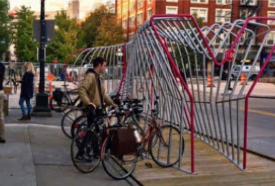 bike racks in Iowa City
