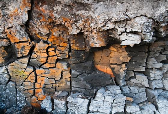 broken clay up close