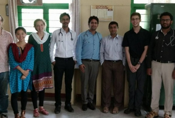 A Global Health Studies B.S. student during his summer researching waterborne illness at the Vivekananda Memorial Hospital in S