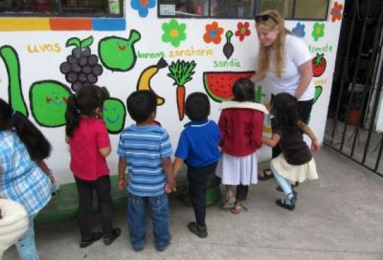 Global Health Studies student volunteers as a daycare health educator in Guatemala