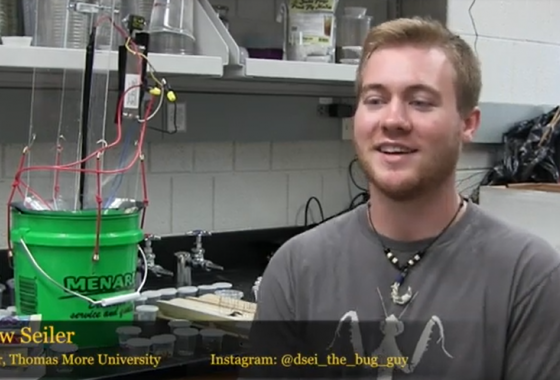Drew Seiler studies moth biodiversity in the Forbes Lab