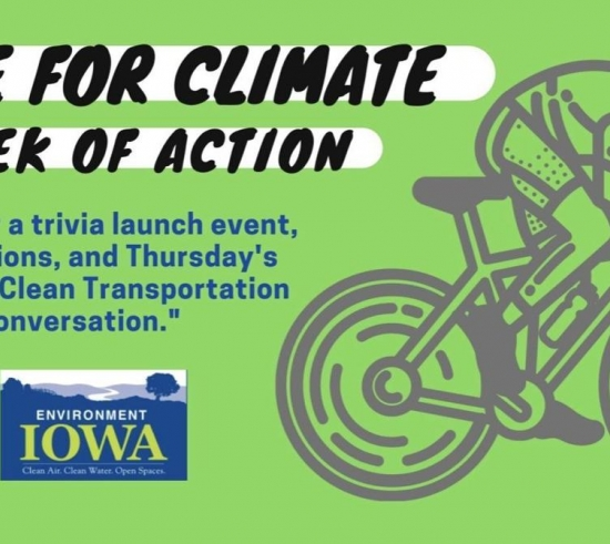 Bike For Climate Week of Action, join us for a trivia launch event and daily actions