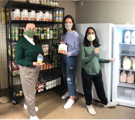 From Left to Right: Lauren Williams (OSE intern, grant applicant), Charlotte Lenkaitis (food pantry volunteer, grant applicant